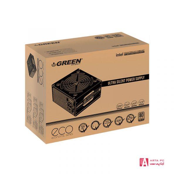 منبع تغذیه کامپیوتر گرین مدل GP350A-ECO