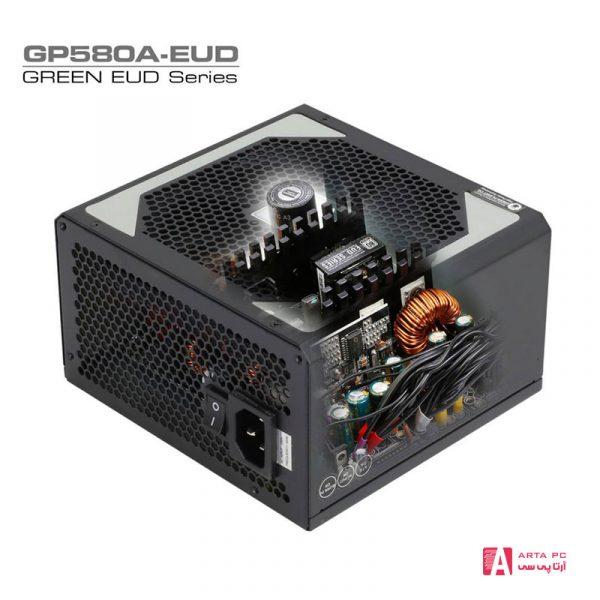 منبع تغذیه کامپیوتر گرین مدل GP580A-EUD