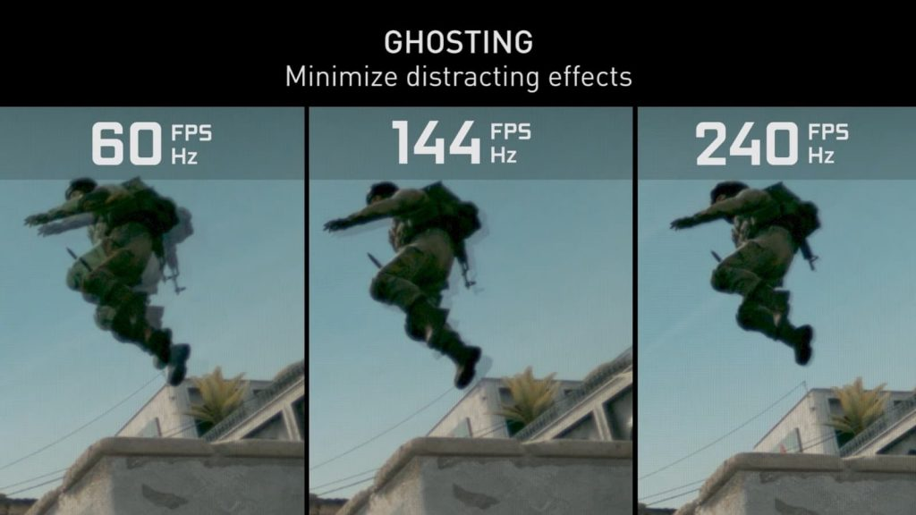 تفاوت تصویر در مانیتور های 60 ، 144 و 240 هرتز